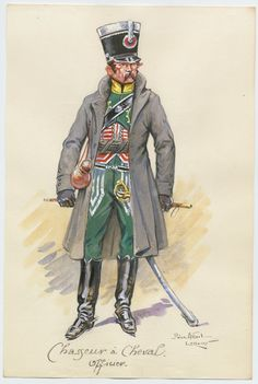 French; Chasseur a Cheval, Officer by Pierre Albert Leroux