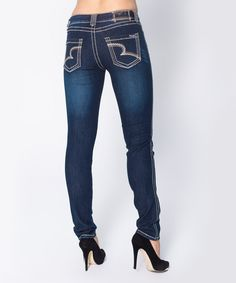Another great find on #zulily! Blue Blasted Rinse Anita Skinny Jeans by Carreli Jeans #zulilyfinds