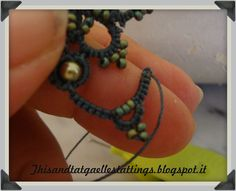Bead tatting part 4
