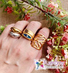 Gold and silver rings Handmade Art, Handmade Jewelry, Gold And Silver Rings, Handmade Jewellery, Jewellery Making, Diy Jewelry, Craft Jewelry, Handcrafted Jewelry