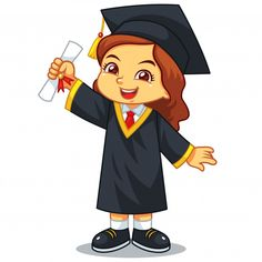 Girl graduation with toga and certificate Vector Image , Kids Vector, Dog Vector, Vector Free, Graduation Images, Graduation Templates, Illustration Plate, Sales Girl, Flower Drawing Tutorials, Cake Logo Design