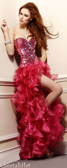 SHERRI HILL - Authentic Designer - Bejeweled Special Occasion Gown