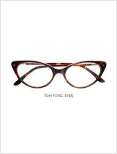 These are a modern version of vintage cat eye glasses. This style made a comeback from the classic style. This Tom Ford version is slightly less winged out than the vintage pair. Cool Glasses, New Glasses, Cat Eye Glasses, Glasses Frames, Tom Ford Eyewear, Fashion Eye Glasses, Four Eyes, Optical Glasses, Cat Eye Frames