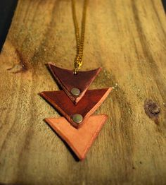 Triangle Stack Leather Necklace | Jewelry Necklaces | Leather & Copper | Scoutmob Shoppe | Product Detail