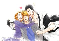 Awe, Ichigo with his mom and his dad!:'3