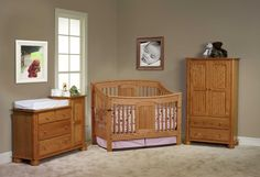 Baby Furniture Set Wood Crib Nursery Sets Ideas Amish