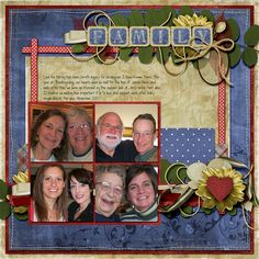 family digital scrapbook page