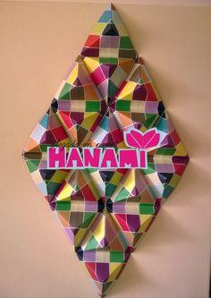 Cuadro de rombos en origami