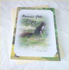 """Carte double """" Animaux de la forêt """" Bonne Fête Papa : Cartes par celinephotosartnature"""