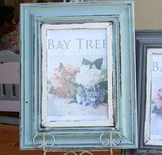 Beautiful Vintage style distressed Duck Egg Blue and White Frame available in three sizes:  Picture 100x150mm – Frame size 270×320  Picture 150x200mm – frame size 320×370  Picture 200x300mm – frame size 370×470