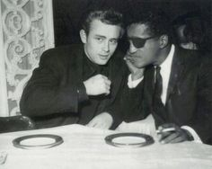 James Dean and Sammy Davis, Jr.