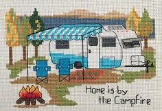 Scotty Vintage Trailer - Cross Stitch Pattern by Camp Cross Stitch!