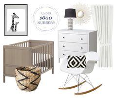 Under $600.00 Gender Neutral Nursery Design!