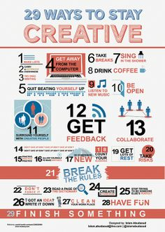 29 Ways to Stay Creative (Infographic)