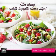 Kim demiş salata lezzetli olmaz diye!  Çilekli, cevizli, avokadolu salatayı bir dene;)  #zayıflama #diyet #salata
