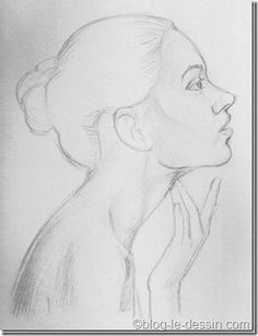 Drawing Portraits - portrait femme Discover The Secrets Of Drawing Realistic Pencil Portraits.Let Me Show You How You Too Can Draw Realistic Pencil Portraits With My Truly Step-by-Step Guide. Portrait Sketches, Portrait Illustration, Pencil Portrait, Art Drawings Sketches, Cool Drawings, Pencil Drawings, Drawing Portraits, Portrait Art, Pinguin Illustration