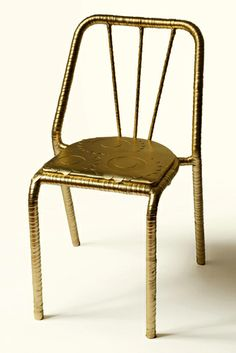 GOLDEN FLOWER CHAIR - iron, eco leater