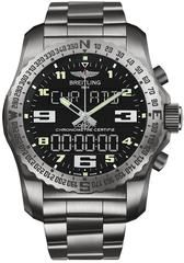 Volcán reloj Breitling Cockpit B50 pulsera de titanio III Profesional Negro