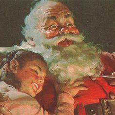 *COCA-COLA ~ Vintage Santa print