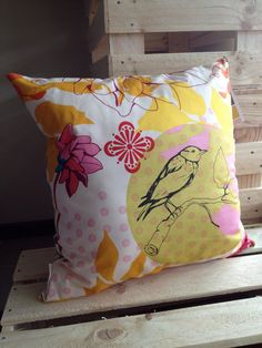 Hand Drawn Garden Cushion/Pillow Cover 18 46 cm by LukaMish, $30.00
