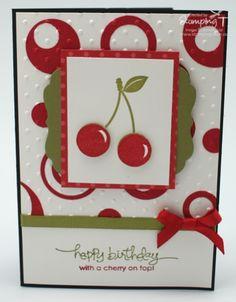 Cute cherry card