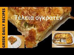 Συνταγές για ογκρατέν! | Greek daily recipes - YouTube Daily Meals, Cheesesteak, Side Dishes, Food And Drink, Ethnic Recipes, Youtube, Rezepte, Youtubers, Side Dish