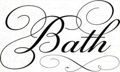 "Simply Words | Bath | Wall Decals I been looking for the word ""bath"" decals everywhere finally found it now I can make my sign:-) thanks for the pin"