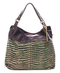 Green Metallic Leather Hobo Bag #zulily #zulilyfinds