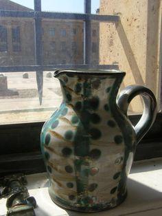 Mid-century vintage Robert Picault pitcher made in Vallauris, France.