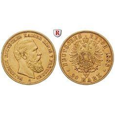 Deutsches Kaiserreich, Preussen, Friedrich III., 20 Mark 1888, A, ss, J. 248: Friedrich III. 1888. 20 Mark 1888 A. J. 248; GOLD,… #coins