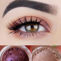 Mineral Eyeshadow Duo- Get this look! All Natural, Vegan Eyeshadow and Eyeliner Makeup