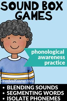 So much fun! These Sound Box activities will help your students blend sounds, segment words, and isolate phonemes. Perfect to improve phonological awareness and beginning reading. - Education and lifestyle