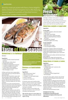 Taste of the season ~ Use fresh, local and seasonal ingredients to create delightful dishes this summer. #locallife #shoplocally #food #recipes #ideas #inspiration #Petersfield #Hampshire