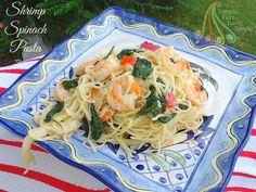 Simple Fare, Fairly Simple: Shrimp Spinach Pasta
