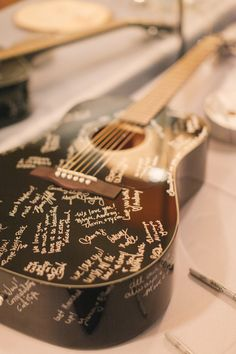 Every guest signed a guitar.  Photography - Bryan N. Miller