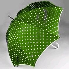 Green spotted umbrella