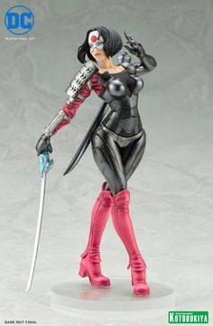 DC Comics Katana Bishoujo Statue Info & Images From Kotobukiya Katana, Anime Figures, Action Figures, Bishoujo Statue, Black Armor, Dc Comics Art, Figure Model, Marvel Vs, Nightwing