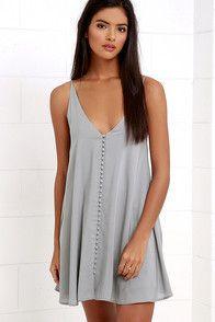 Cool Washed Blue Dress - Shirt Dress - Button-Up Dress - $56.00