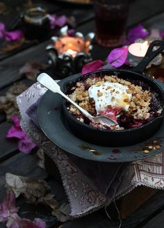 Plum, Carob & Orange Crumble on Bonfire Night