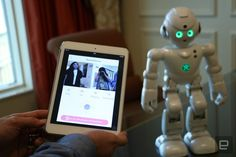 Ubtech's humanoid uses the voice-recognition technology to talk to you.