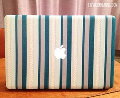 Clever Bird Banter, have done an excellent job covering a Mac Book Pro with their Washi Washi Tape Laptop, Diy Laptop, Washi Tape Crafts, Duck Tape Crafts, Washi Tapes, Skin Para Notebook, Duct Tape, Masking Tape, Tape Art