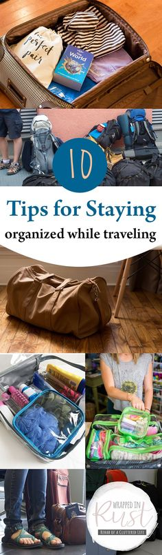 7 Tips for Staying Organized While Traveling| Organized While Traveling, How to Stay Organized When Traveling, Travel Hacks, Traveling Hacks and Tips, Organized, Organizing Hacks, Organization Tips and Tricks, Popular Pin