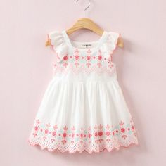 New 2017 Dresses for Flower Girls Embroidery baby dress for wedding Princess elegant kids dress Frocks For Girls, Kids Frocks, Toddler Girl Dresses, Little Girl Dresses, Girls Dresses, Baby Girl Dress Patterns, Mode Hijab, Kids Outfits, Kids Fashion