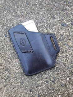Leather Holster, Leather Pouch, Leather Tooling, Tan Leather, Iphone Holster, Leather Gifts, Leather Craft, Handmade Leather, Leather Phone Case