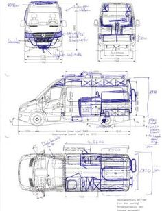 May we introduce – our travel companion, our new home, our Sprinter! At first sight, it is just a used cargo van, but to us it is the base for our overland camper. Let us show you the layout and our ideas for the conversion. Self Build Campervan, Build A Camper Van, Camper Life, Truck Camper, Van Conversion Interior, Camper Van Conversion Diy, Van Interior, Petit Camping Car, Auto Camping