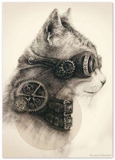 steampunk cat   Would Gliondar like?