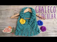 Bolero o chaleco circular  a crochet ( TODAS LAS TALLAS) - YouTube Crochet For Beginners, Crochet For Kids, Diy Crochet, Crochet Crafts, Chevron Crochet Patterns, Baby Knitting Patterns, Crochet Designs, Mandala Au Crochet, Crochet Baby Poncho