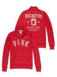 PINK The Ohio State University Half-Zip Pullover. Just for you Jeremy! Ohio State University, Ohio State Buckeyes, Half Zip Pullover, Women Lingerie, Victoria Secret Pink, Just For You, Graphic Sweatshirt, Sweatshirts, My Style