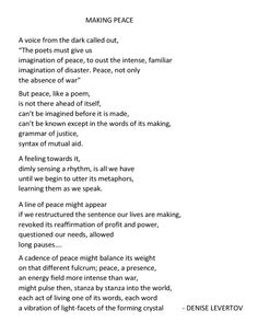 in mind denise levertov Religious themes denise levertov wrote many poems with religious themes throughout her career these poems range from religious imagery to implied metaphors of religion.