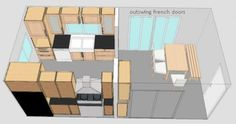 Galley Kitchen Plans by techtlily, sink side